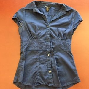 Banana Republic Navy Blue Fitted Dress Top Size 0
